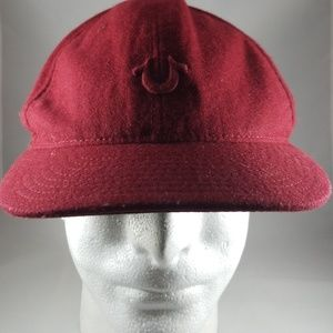 True Religion Wool Blend Adjustable Strapback Cap